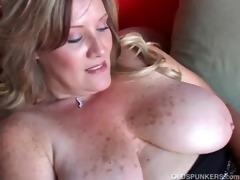 glamorous cougar has wonderful large tits