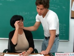 mother i in glasses shay fox fuck in class