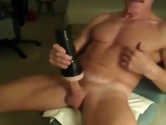 muscle daddy and his fleshlight