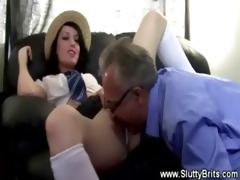 young hottie gets licked out by old guy and likes