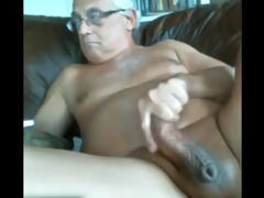 likeaolder older man 61 y d jerking off his fat