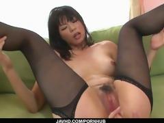 hottie saki aoyama asian girl giving oral