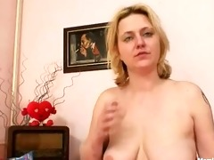 large milk cans amateur milf plays with meatballs