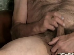 shaggy and horny dad jerking