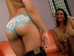 sexy strip show from hot mamma and her daughter