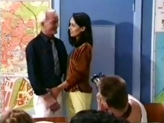 classroom orgy old young cute girl