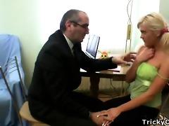 lewd professor seduces hid dumb blonde student