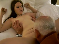 hawt woman receives a oral-job from a 82 year old
