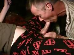 older chap sucks off cock