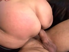 mature granny with curly bush fucked by young stud