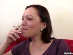 pecker hungry mommy spreads her legs for son in