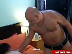 daddy bear barebacking his cub