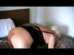 90 yr. old granny drilled in a hotel
