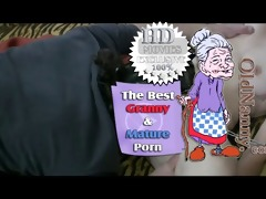 old granny receive pussy licked by young guy: old