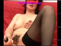 italian mama masturbating curly pussy mom