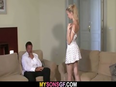 fascinating youthful blonde falls for her