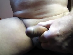 65 year old grandad makes his penis cum again