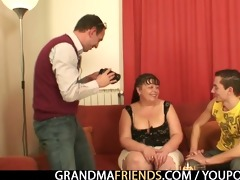 two buddies gangbang older fatty