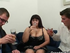 huge titted wench gets lured into 3some