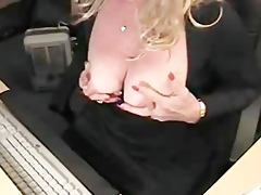 blonde mother i masturbates on web camera