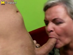 nasty big grandma having sex with her young lad