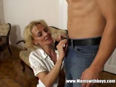 hot horny cougar seduces young guy