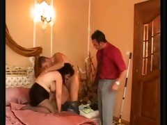 horny big titted mature with hairy vagina fucks